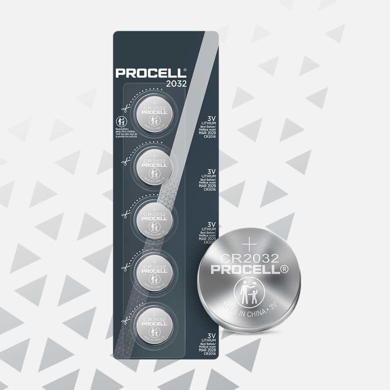 Procell Lithium Coin 2032, 3v Batteries